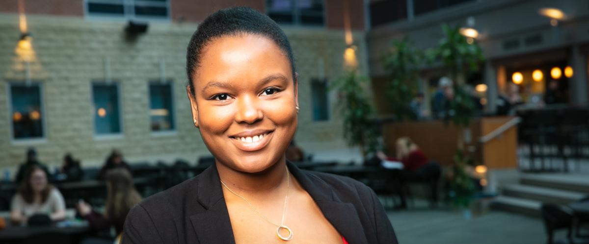 Portrait of graduate student Annabelle-Ashley Malvoisin