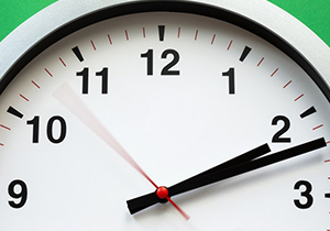 Photo of the top of a clock