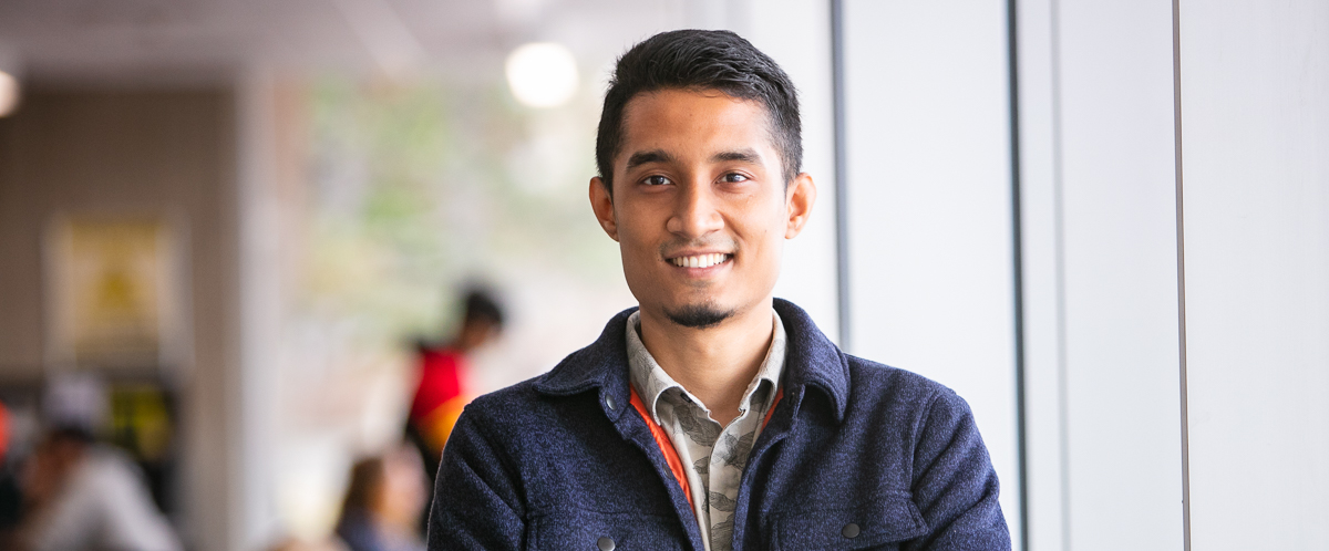 Portrait of graduate student Minhajul Haque Minar