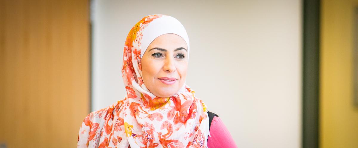 Portrait of graduate student Rana Telfah