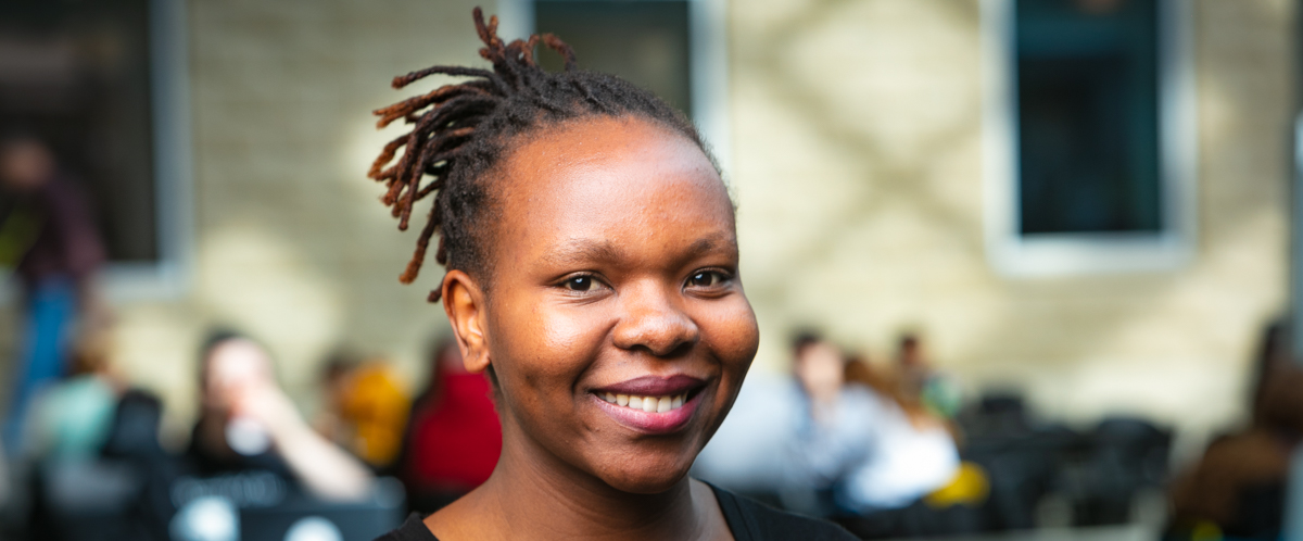 Portrait of graduate student Stellah Mbao