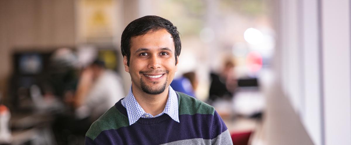 Portrait of graduate student Uttam Ghimire