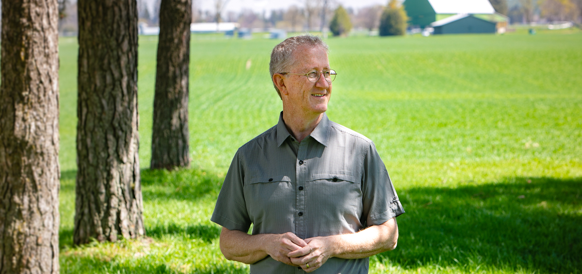 Portrait of professor Wayne Caldwell at the U of G Arkell Research Station