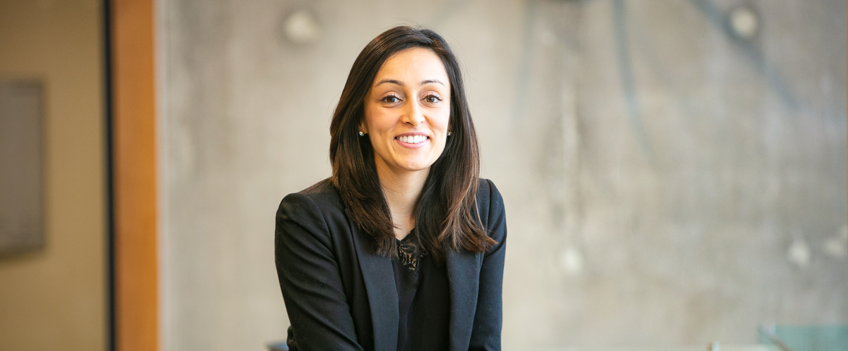 Portrait of graduate student Kiran Bains