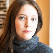 Portrait of Rebecca Daggett in the Advanced Drawing Studio, Alexander Hall