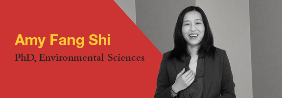 Amy Fang Shi, PhD Candidate, Department of Environmental Sciences