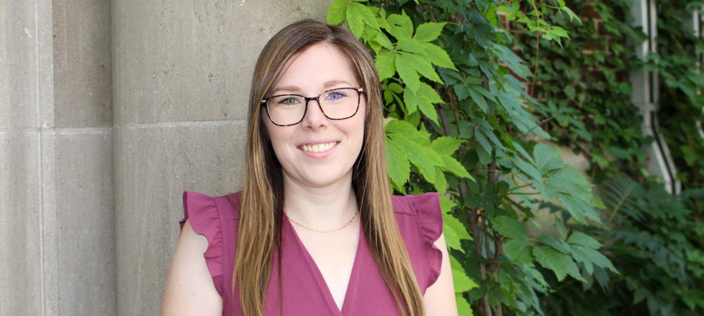 Portrait of graduate student Amberley Ruetz (PhD, Geography), University of Guelph