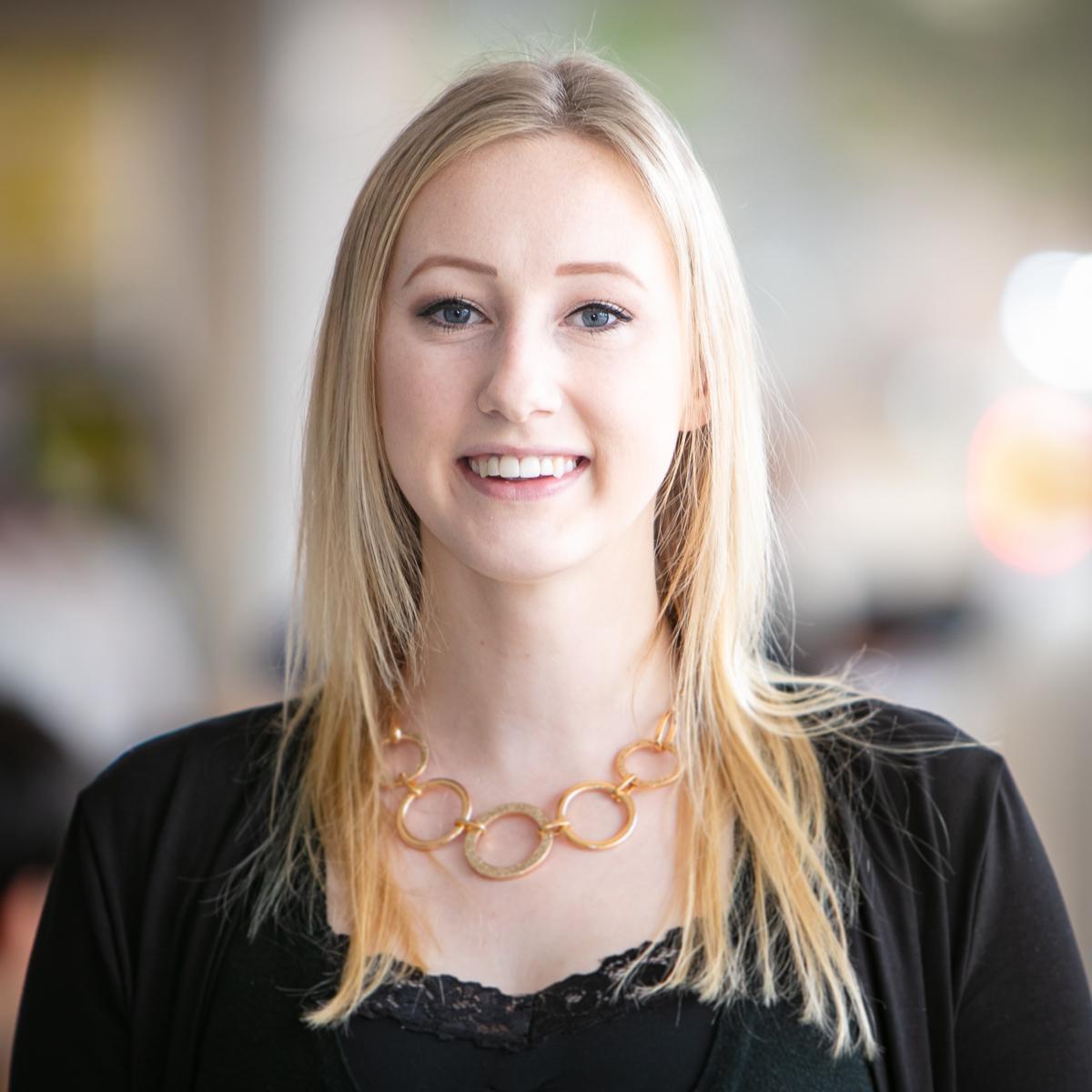Portrait of graduate student Samantha O'Leary