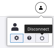 Experience Apps profile section with the disconnect button