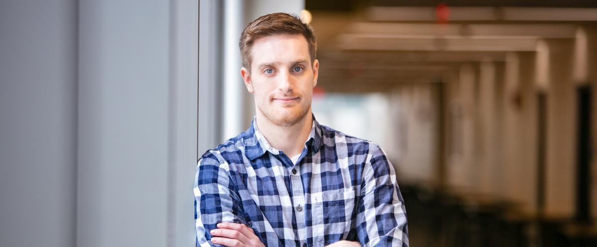 Portrait of graduate student Nick Nunn