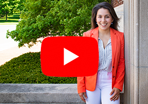 Thumbnail for a link to a video of grad student Maria Benvenuto on Youtube