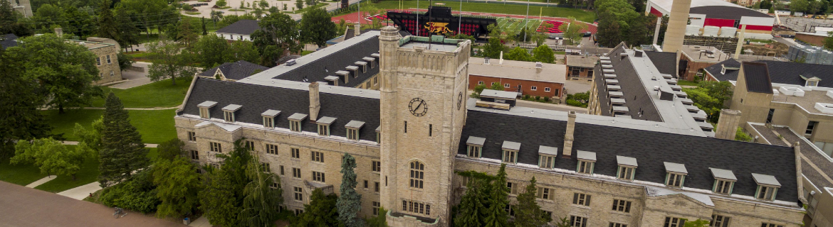 arial view of Johnston Hall