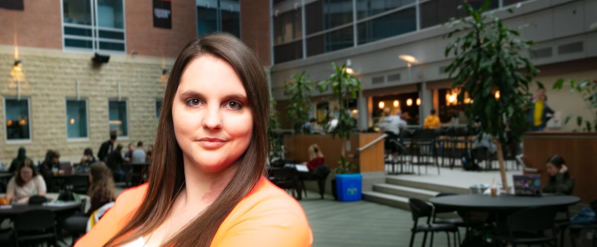 Portrait of graduate student Becky McRae